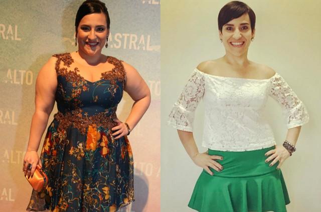 Simone Gutierrez antes e depois (Foto: TV Globo/Reprodução Instagram)